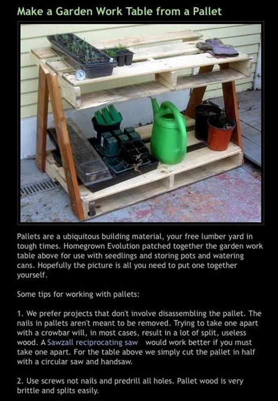 Make a Garden Work Table from a Pallet